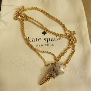 Kate Spade Ice cream cone necklace